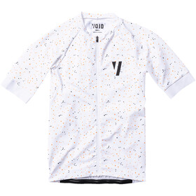 VOID Print Jersey Korte Mouwen Heren, white neon spray